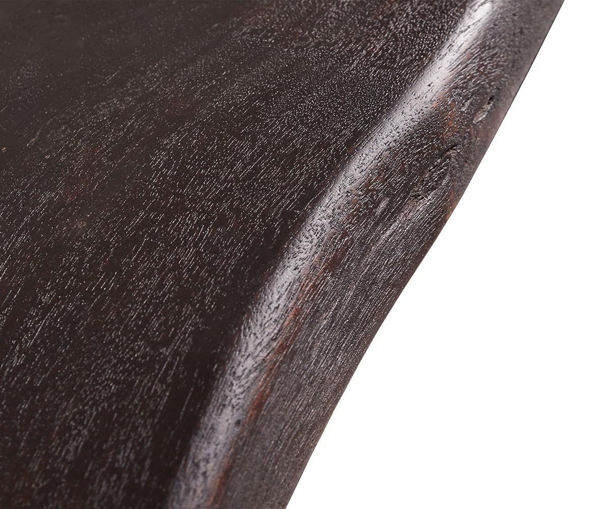 baumtisch live edge 200x100 akazie tabak platte 5 5cm gestell schr g m bel tische esstische. Black Bedroom Furniture Sets. Home Design Ideas