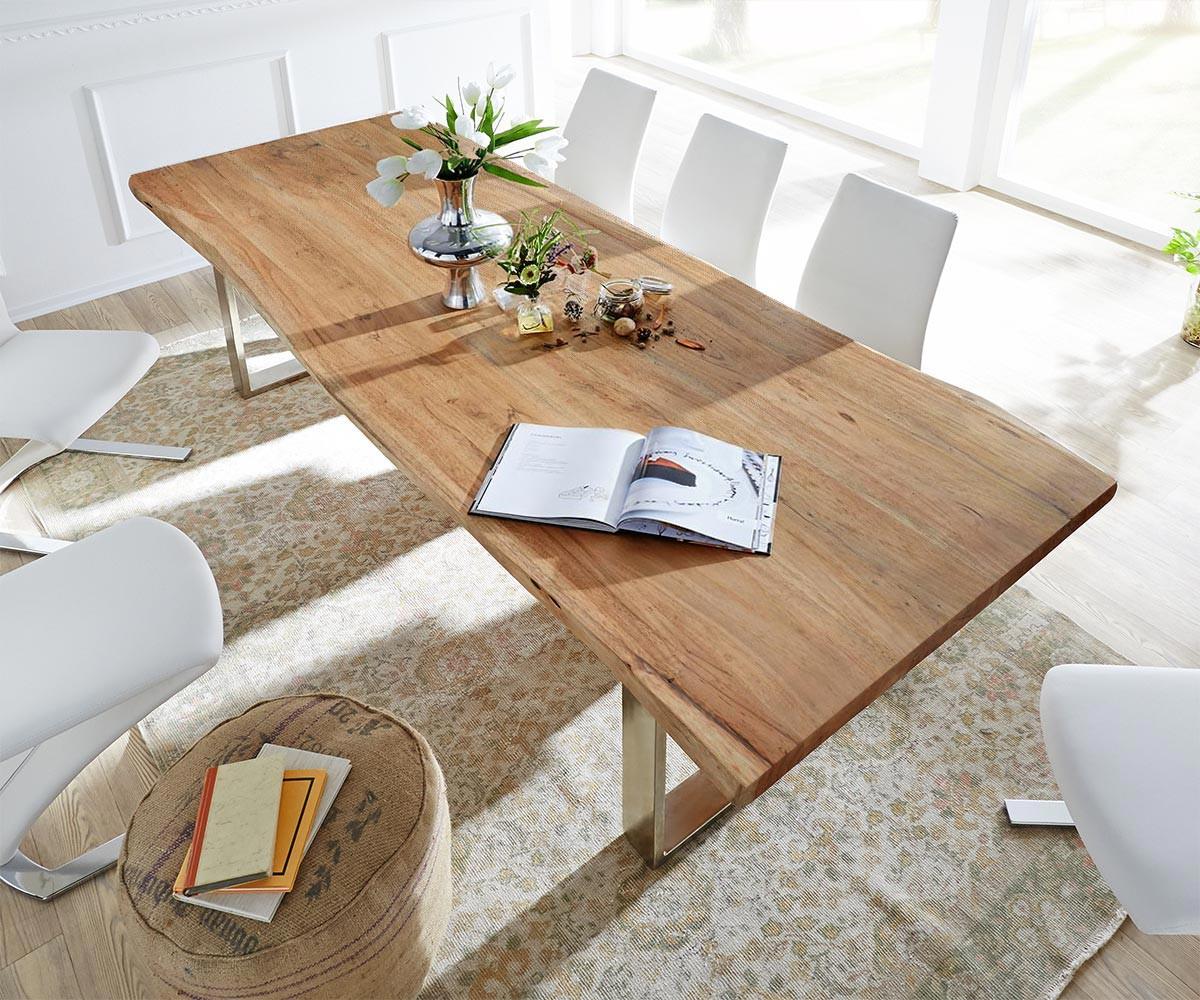 baumtisch live edge 260x100 akazie natur platte 3 5cm. Black Bedroom Furniture Sets. Home Design Ideas