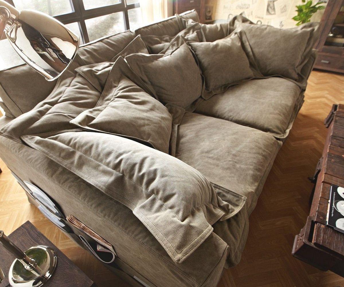hussensofa noelia 240x145 cm braun couch mit kissen m bel sofas big sofas. Black Bedroom Furniture Sets. Home Design Ideas