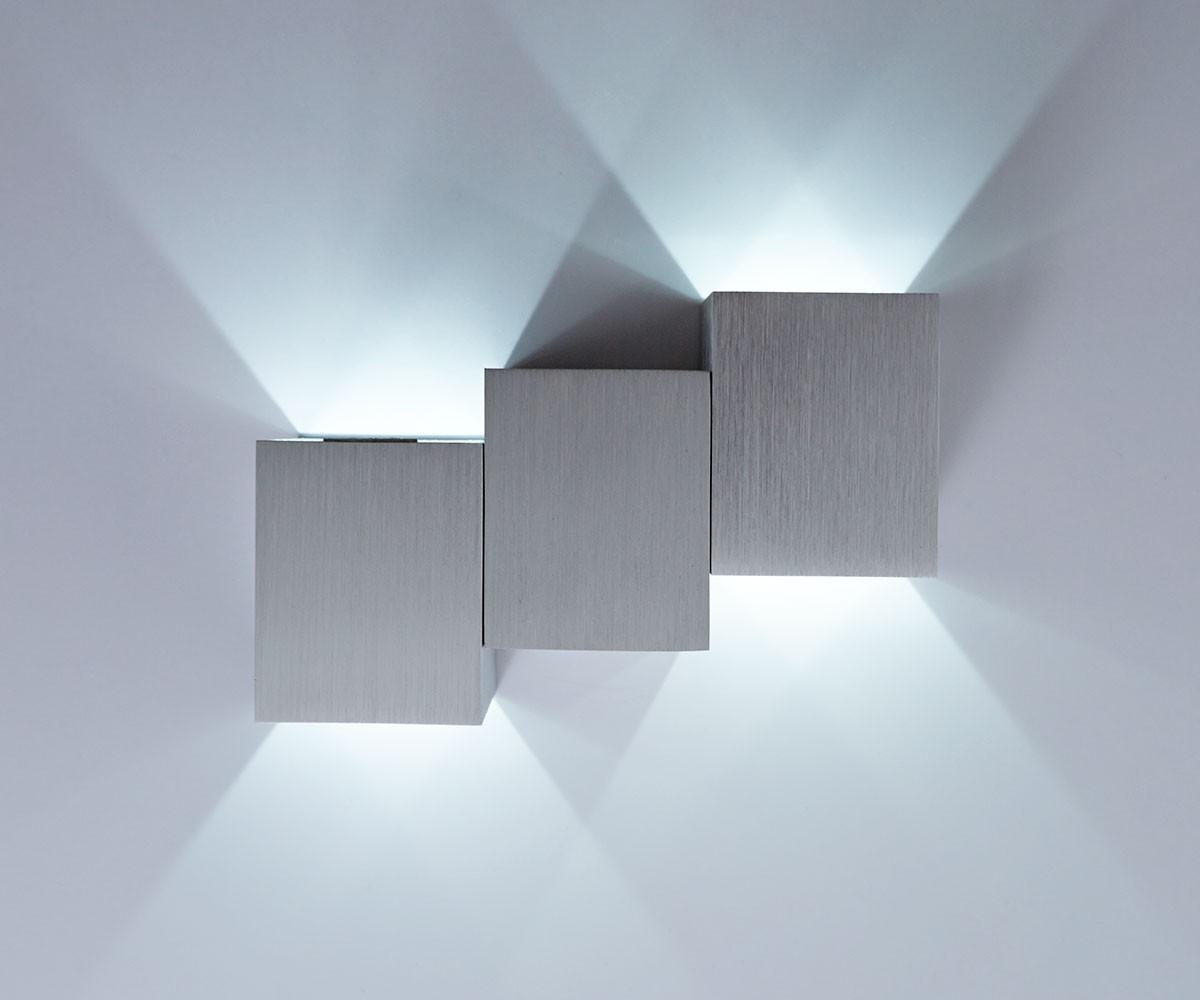 led wandleuchte miray silber 2 watt aluminium geb rstet m bel leuchten. Black Bedroom Furniture Sets. Home Design Ideas