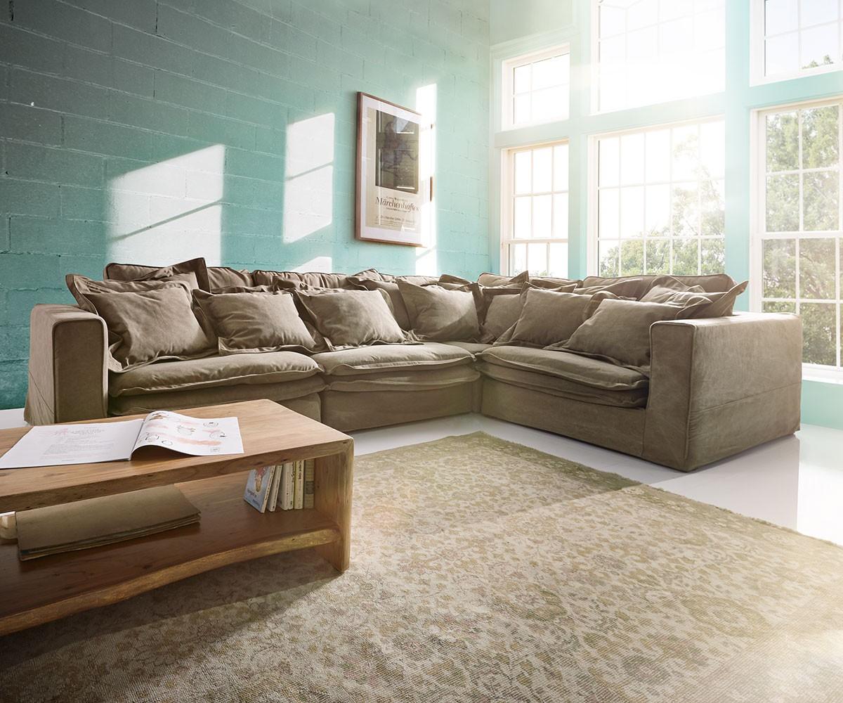 hussensofa naima 240x142 cm rosafarben mit hussen und. Black Bedroom Furniture Sets. Home Design Ideas