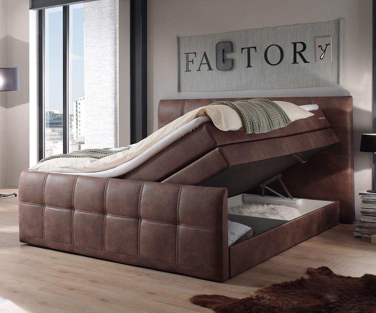 boxspringbett amarillo 180x200 cm braun mit topper m bel betten boxspringbetten. Black Bedroom Furniture Sets. Home Design Ideas