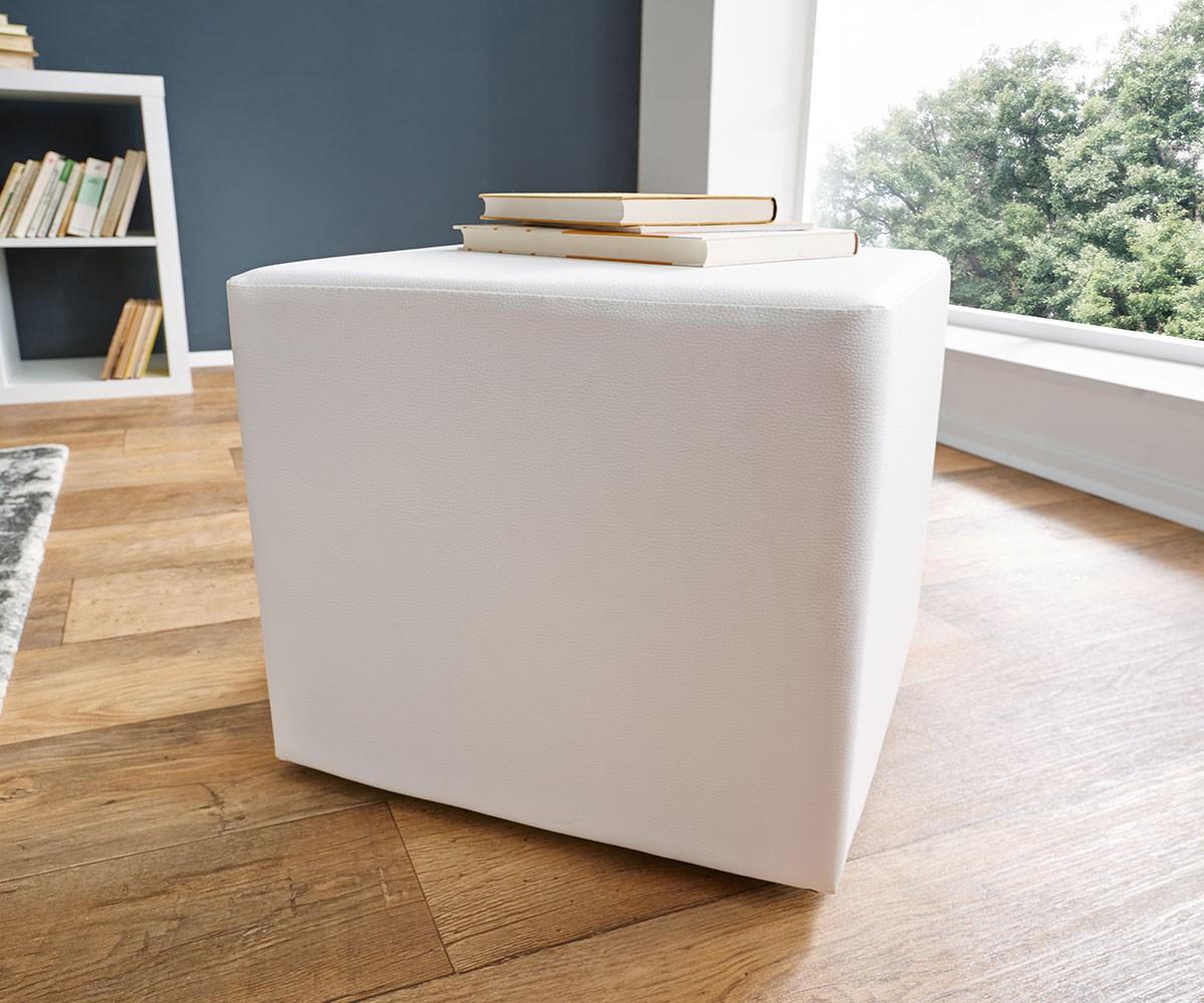 sitzw rfel dado 45x45 cm weiss klassischer sitzhocker. Black Bedroom Furniture Sets. Home Design Ideas