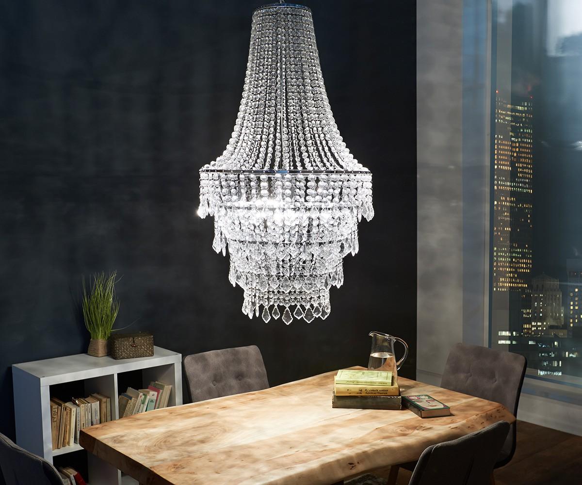 kronleuchter royal deluxe 60 cm transparent m bel leuchten h ngeleuchten. Black Bedroom Furniture Sets. Home Design Ideas