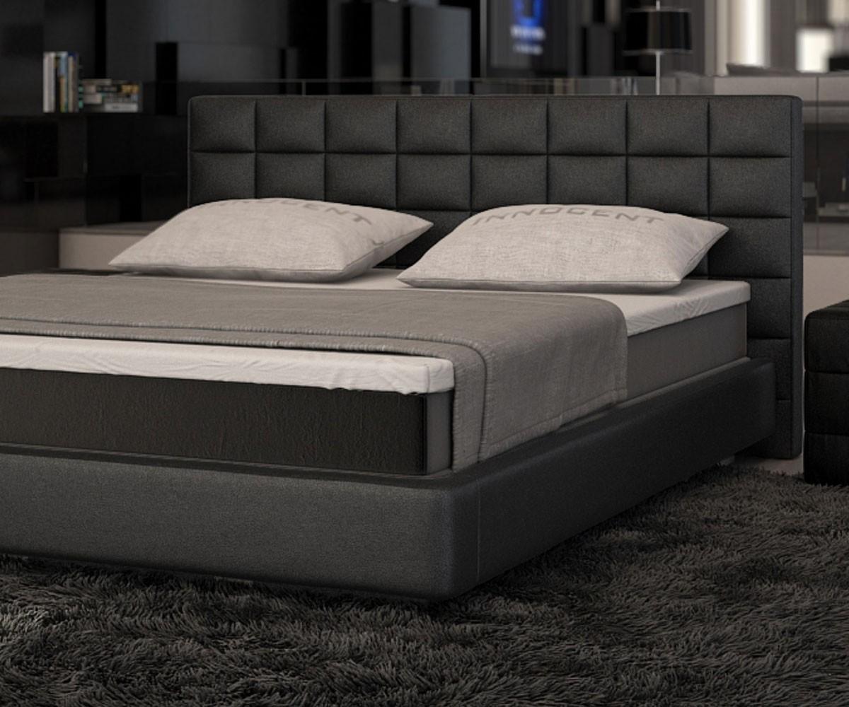 boxspringbett junis 180x200 schwarz matratze und topper. Black Bedroom Furniture Sets. Home Design Ideas