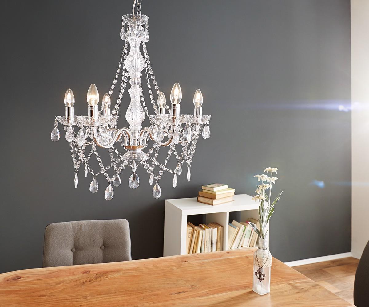 kronleuchter gypsy starlight 55x70 transparent 6 armig. Black Bedroom Furniture Sets. Home Design Ideas