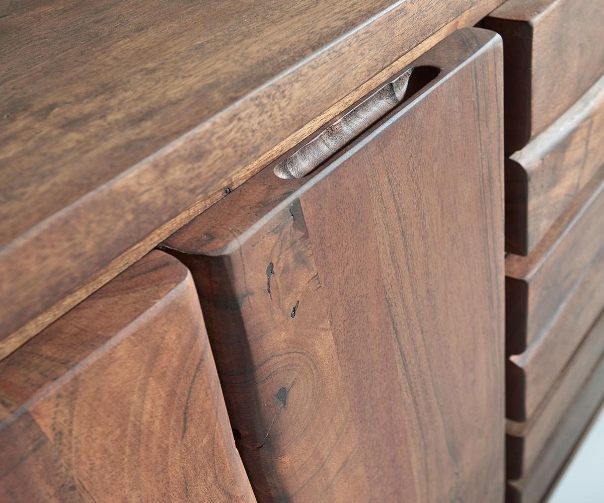 sideboard live edge 147x82 akazie braun 3 sch be 2 t ren. Black Bedroom Furniture Sets. Home Design Ideas