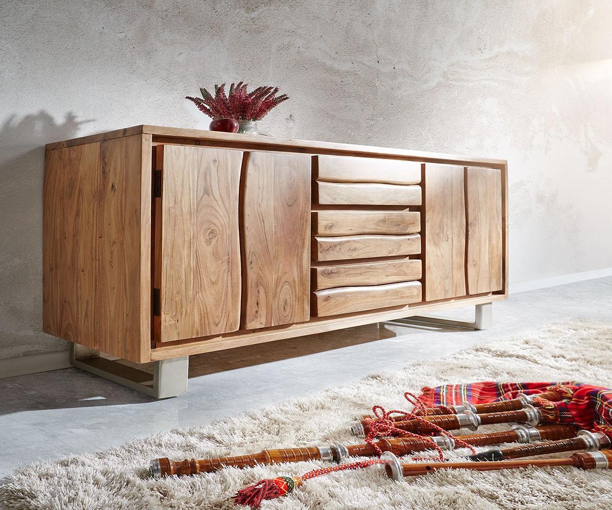sideboard live edge 172x81 akazie natur 3 sch be 4 t ren. Black Bedroom Furniture Sets. Home Design Ideas
