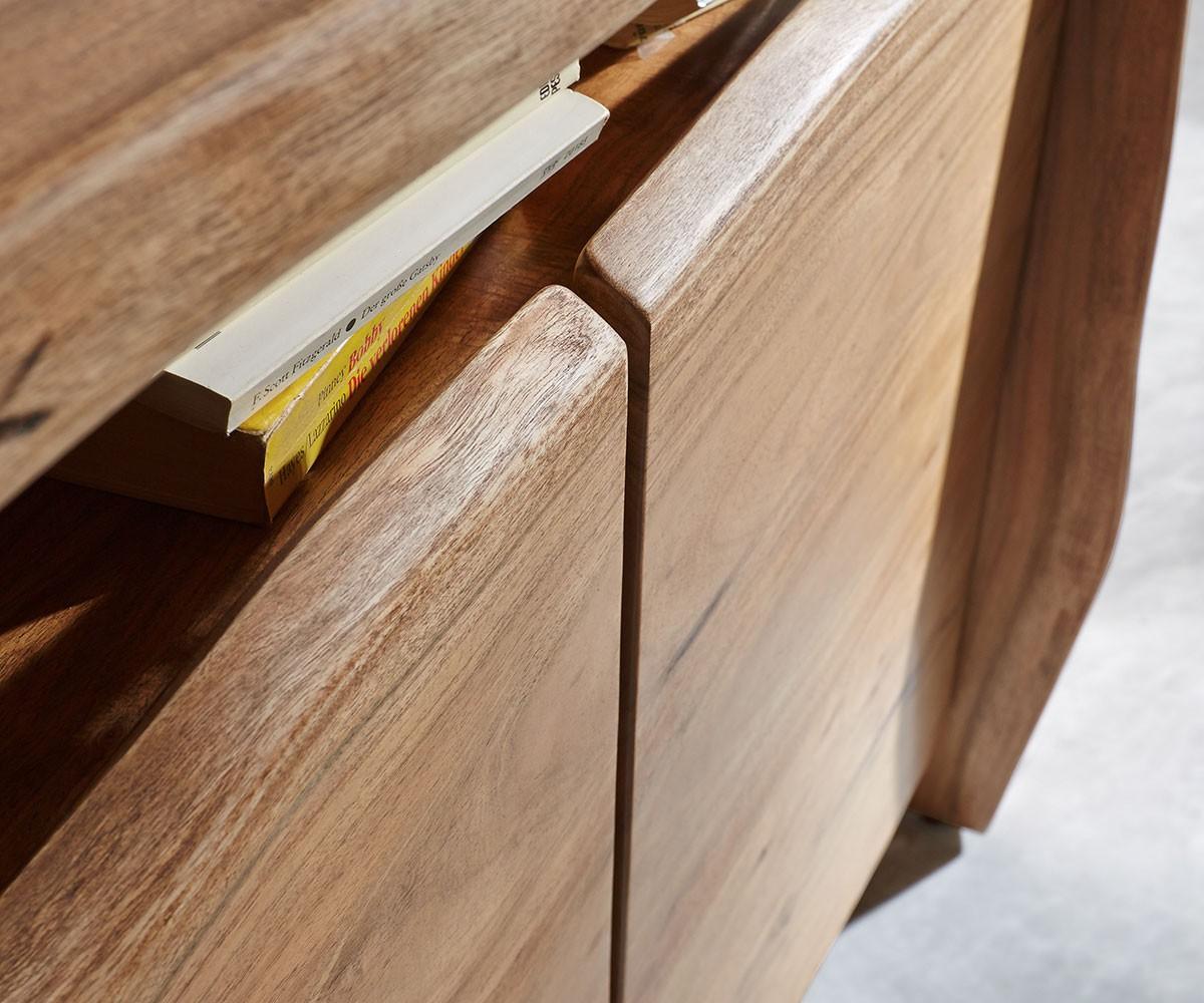 sideboard live edge 145 cm akazie natur 3 t ren m bel kommoden schr nke sideboards. Black Bedroom Furniture Sets. Home Design Ideas
