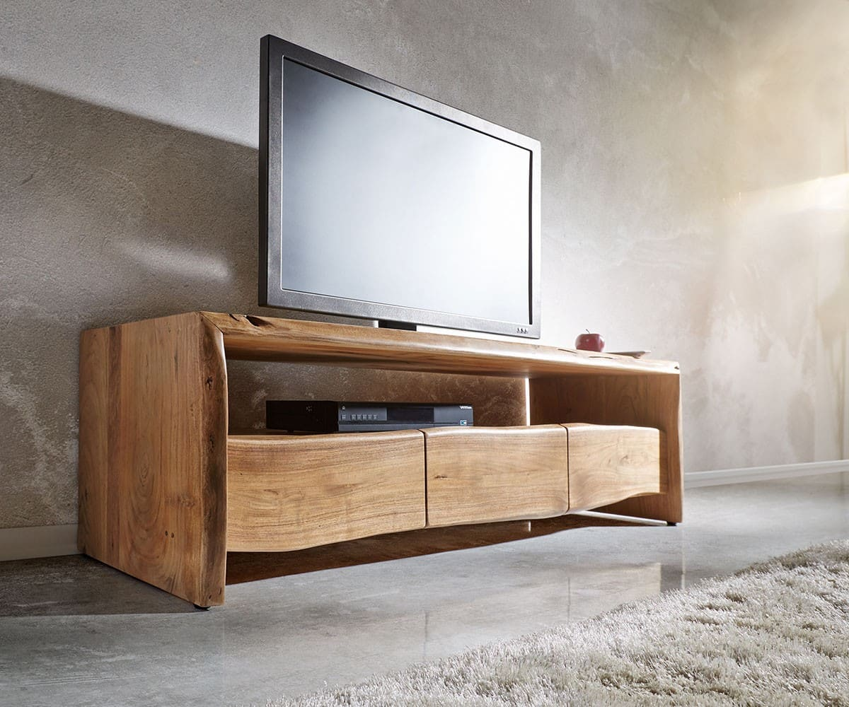 lowboard live edge 145 cm akazie natur fach 3 sch be m bel. Black Bedroom Furniture Sets. Home Design Ideas