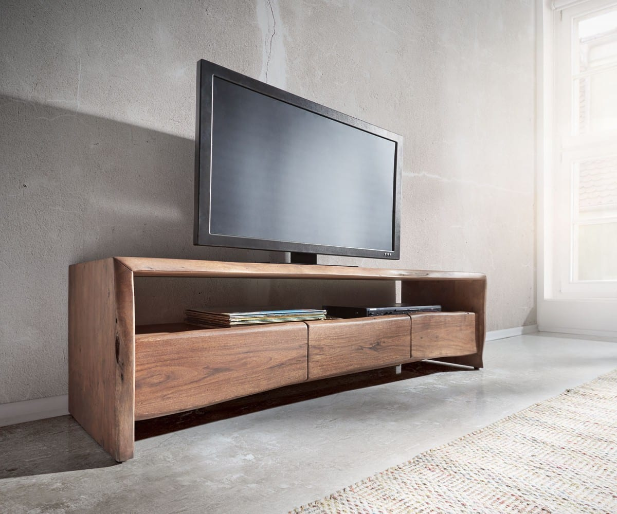 lowboard live edge 145x46 akazie braun fach 3 sch be m bel. Black Bedroom Furniture Sets. Home Design Ideas