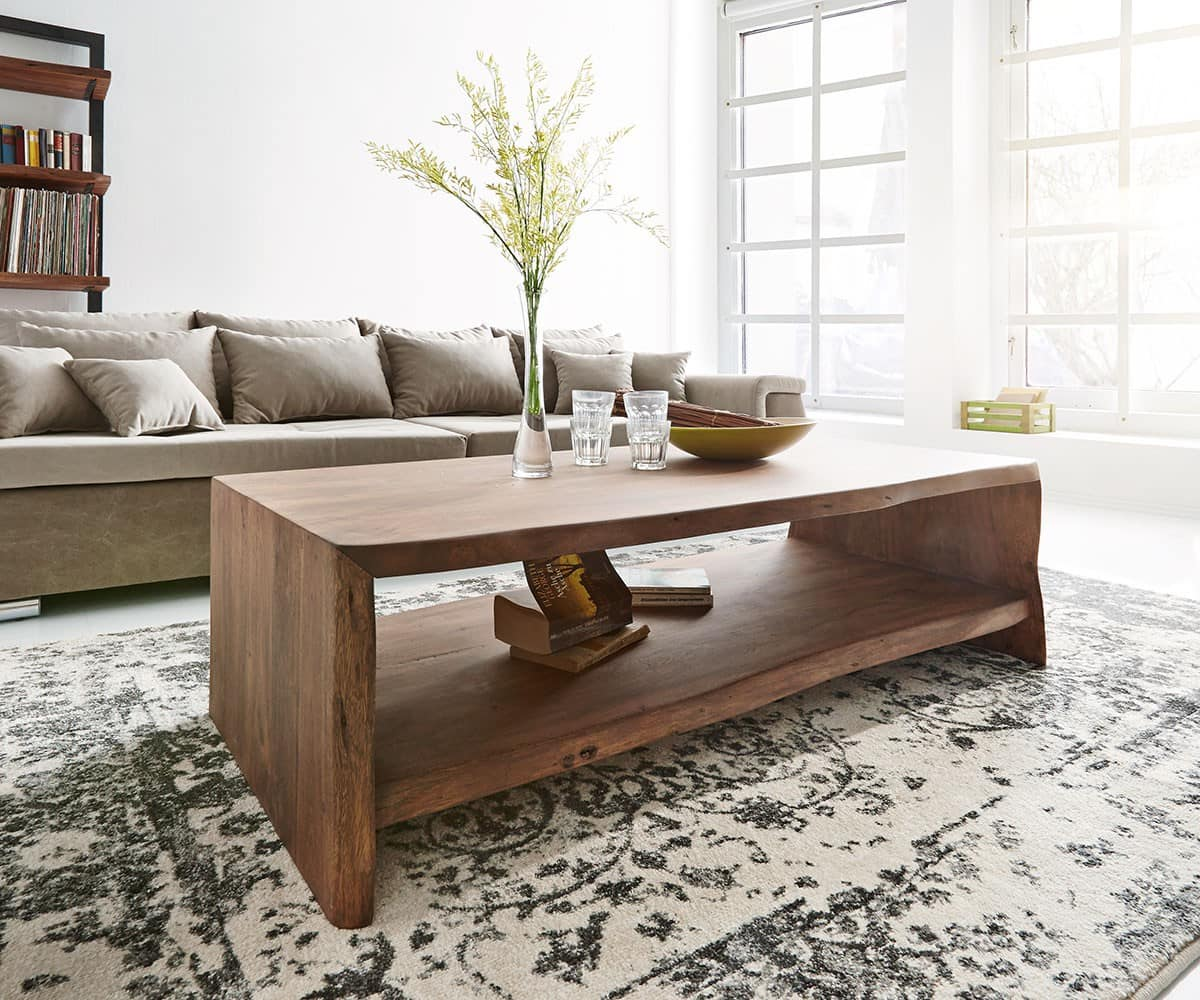 couchtisch live edge 130x65 cm akazie braun baumkante m bel tische couchtische. Black Bedroom Furniture Sets. Home Design Ideas