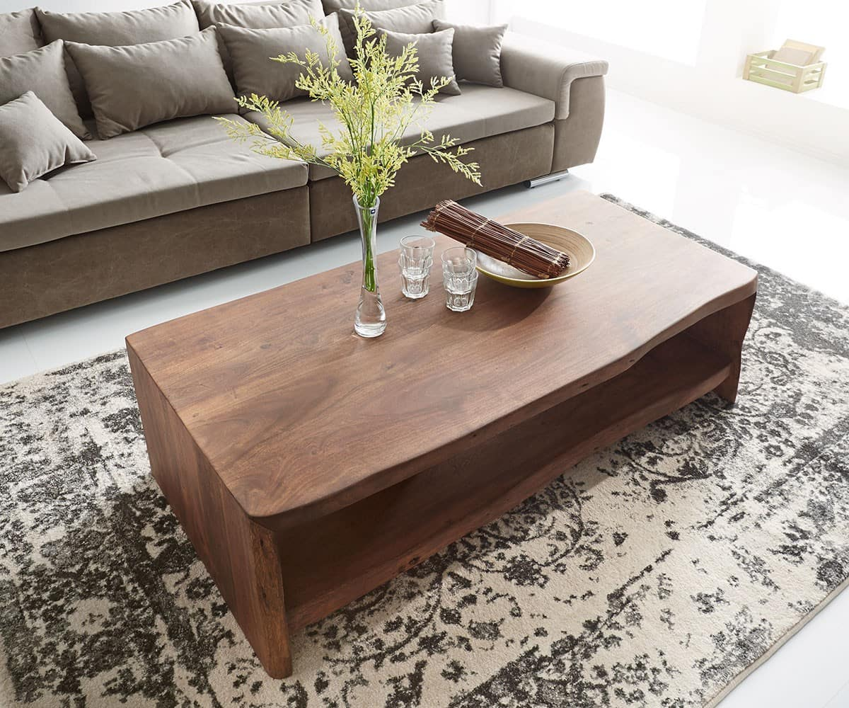 couchtisch live edge 130x65 cm akazie braun baumkante m bel tische couchtische. Black Bedroom Furniture Sets. Home Design Ideas