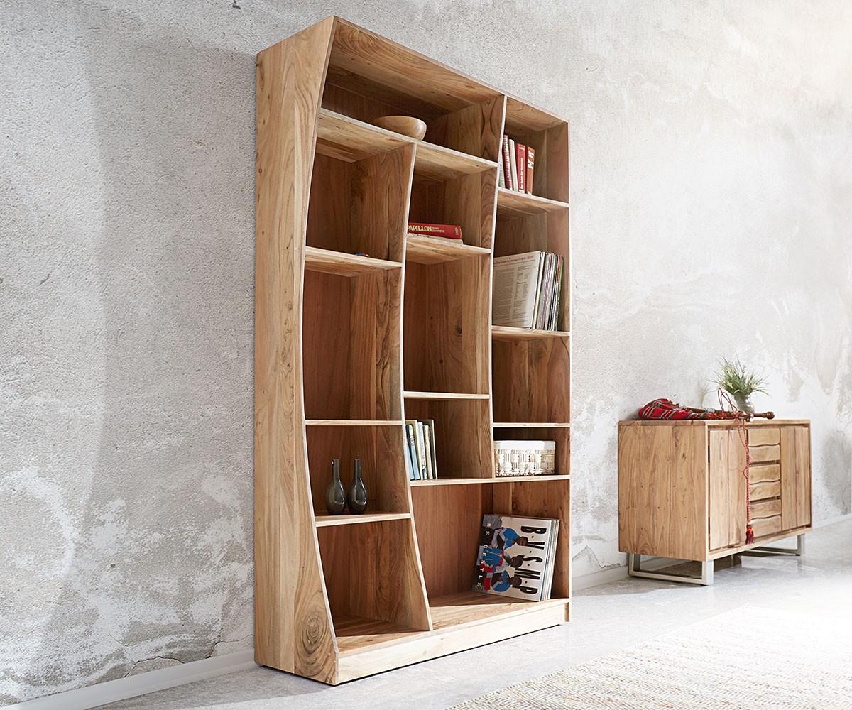 standregal live edge 121x202 cm akazie natur rechts m bel. Black Bedroom Furniture Sets. Home Design Ideas