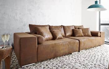 Big Sofa Marbeya Braun/Antik