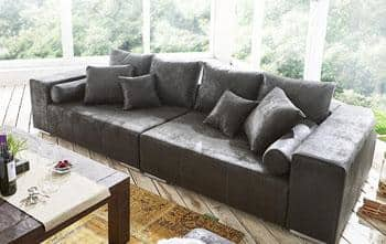 Big Sofa Marbeya Anthrazit/Antik