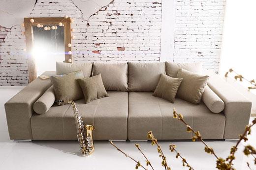 Flachgewebe Sofa Marbeya Mit Flachgewebe