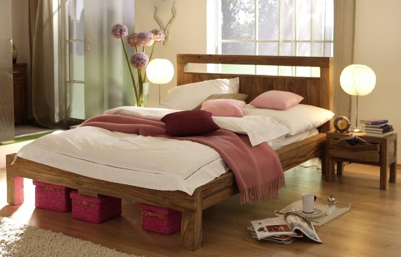 wolf moebel yoga himmelbett 180x200 sheesham natur inklusive stoff by wolf moebel 589 b2b. Black Bedroom Furniture Sets. Home Design Ideas