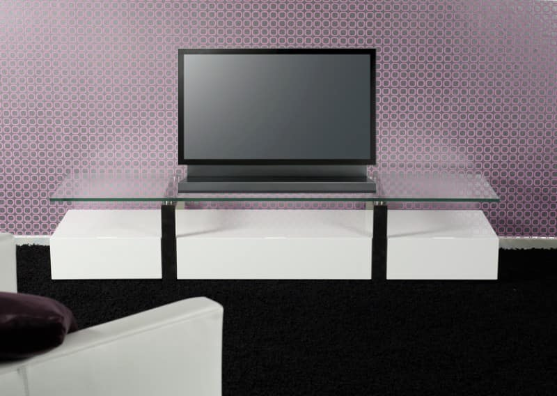 tv tisch hochglanz weiss tv board mit glas 160 cm ebay. Black Bedroom Furniture Sets. Home Design Ideas