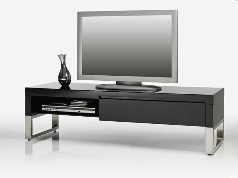 tv tisch boston board highgloss lack schwarz 140 cm ebay. Black Bedroom Furniture Sets. Home Design Ideas