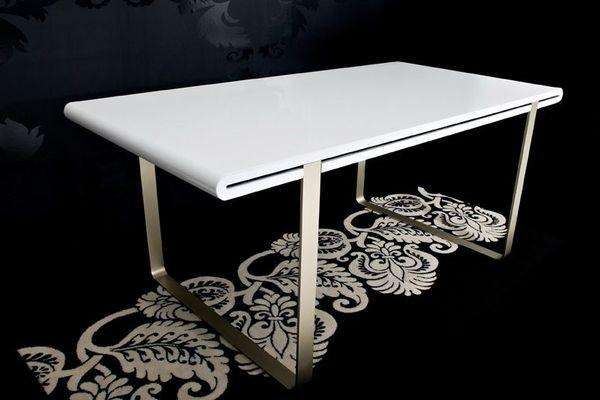 esstisch neo 180 cm hochglanz weiss tisch ebay. Black Bedroom Furniture Sets. Home Design Ideas
