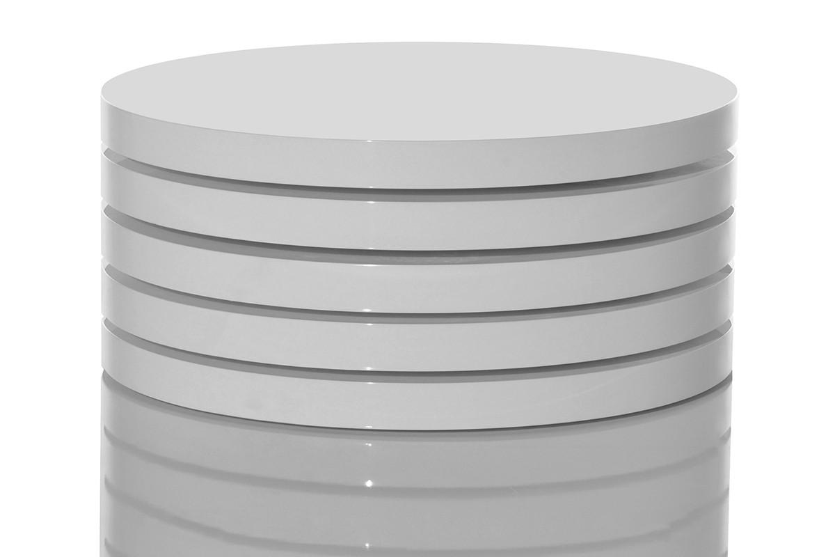Couchtisch Rotation Weiss 70 cm Hochglanz Drehfunktion  eBay