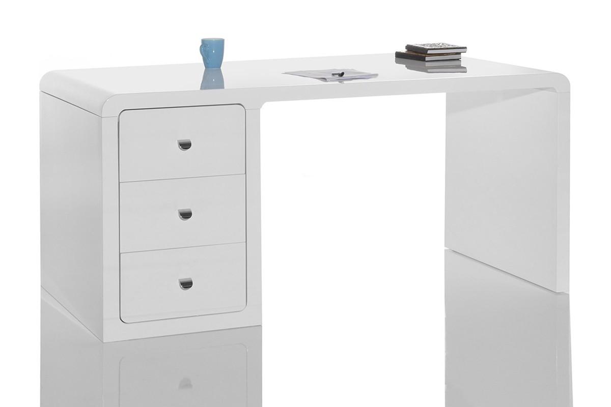 schreibtisch saturn hochglanz weiss mit container tisch ebay. Black Bedroom Furniture Sets. Home Design Ideas