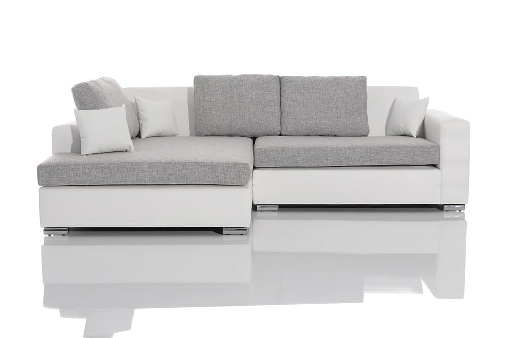 gem tliches design sofa mayflower weiss ottomane links ebay. Black Bedroom Furniture Sets. Home Design Ideas