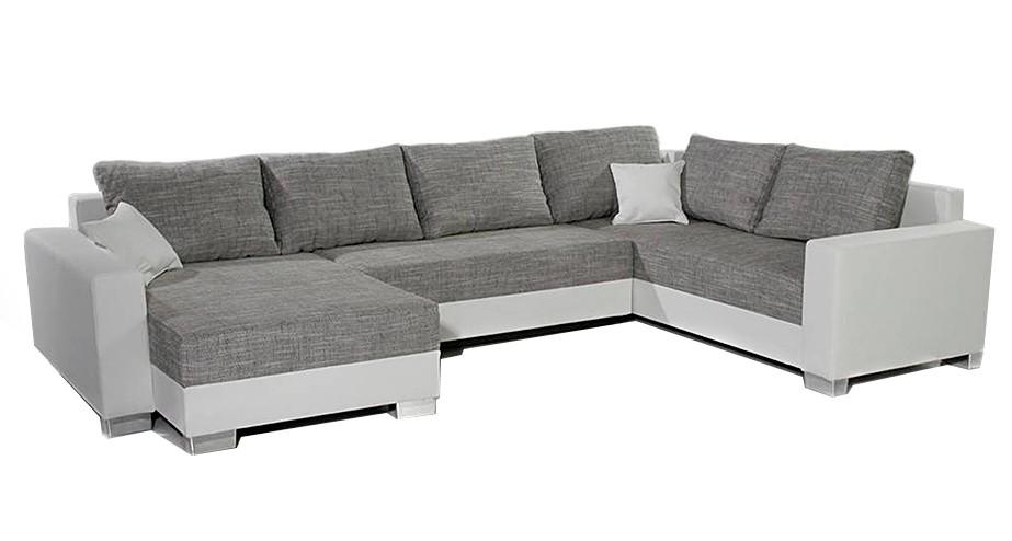 sofa comfort 320x220 cm weiss couch mit kissen und schlaffunktion. Black Bedroom Furniture Sets. Home Design Ideas