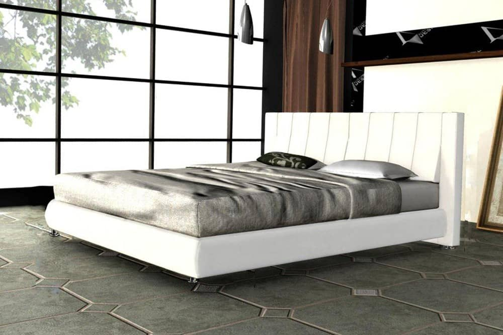 zarah bett 140x200 napalonleder weiss polsterbett 140cm ebay. Black Bedroom Furniture Sets. Home Design Ideas