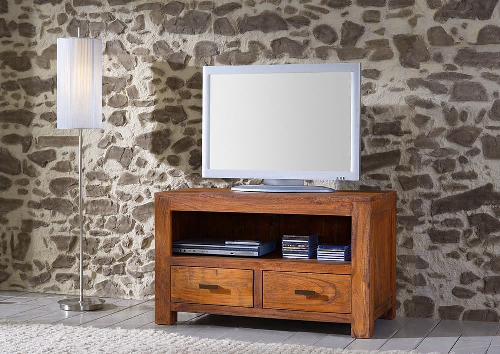 guru tv board akazie honig 100x60 longboard 2 schubladen. Black Bedroom Furniture Sets. Home Design Ideas