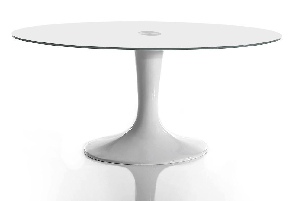 delife esstisch tulip lounge oval weiss weiss sicherheitsglas. Black Bedroom Furniture Sets. Home Design Ideas