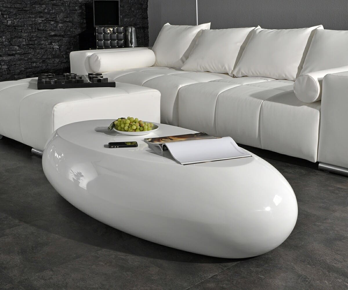 couchtisch osiris 135x70 cm weiss hochglanz oval tisch ebay. Black Bedroom Furniture Sets. Home Design Ideas