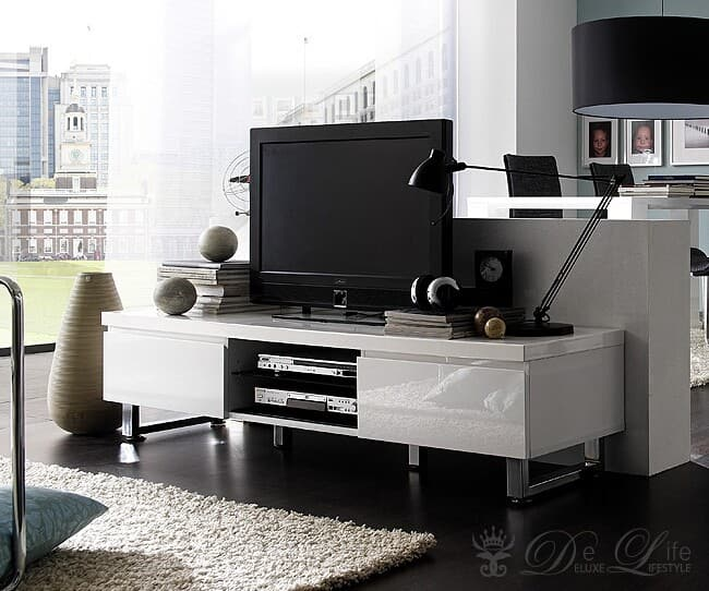 design lowboard wei hochglanz. Black Bedroom Furniture Sets. Home Design Ideas