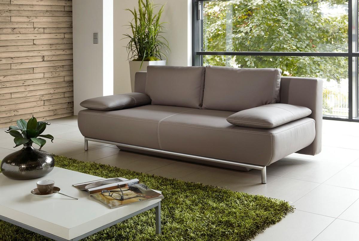 schlafsofa lipsia grau braun sofa mit schlaffunktion und. Black Bedroom Furniture Sets. Home Design Ideas