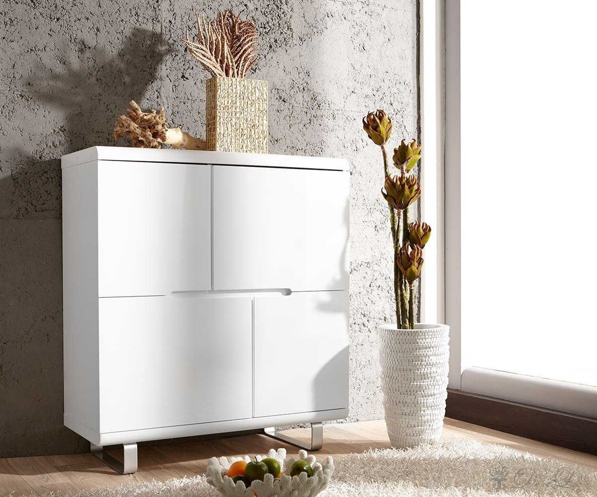 highboard ropero 105x115 cm weiss hochglanz kommode ebay. Black Bedroom Furniture Sets. Home Design Ideas