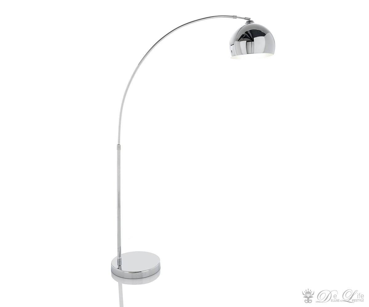 bogenleuchte lounge big deal chrom design bogenlampe schirm neigbar ebay. Black Bedroom Furniture Sets. Home Design Ideas
