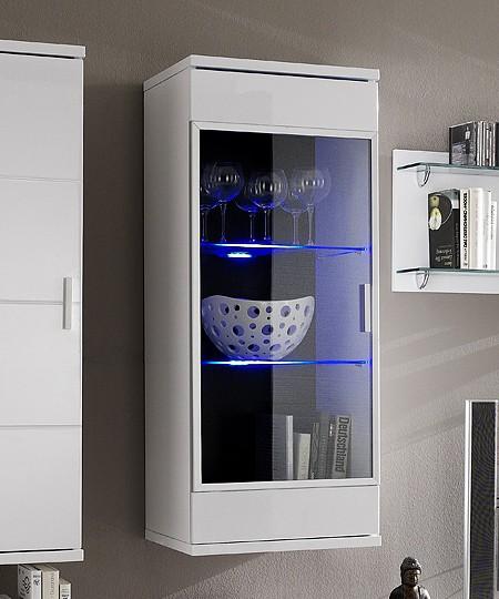 h ngevitrine mirado 50x120 cm weiss hochglanz 2 f cher ebay. Black Bedroom Furniture Sets. Home Design Ideas