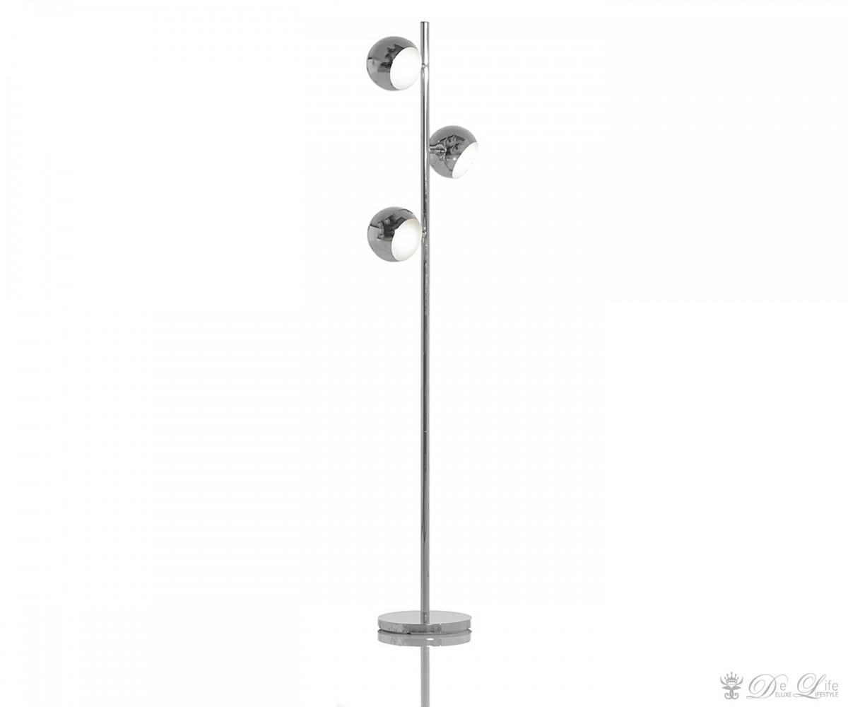 Stehleuchte-Tris-165x45-cm-Chrom-3-Lampenschirme-Metall
