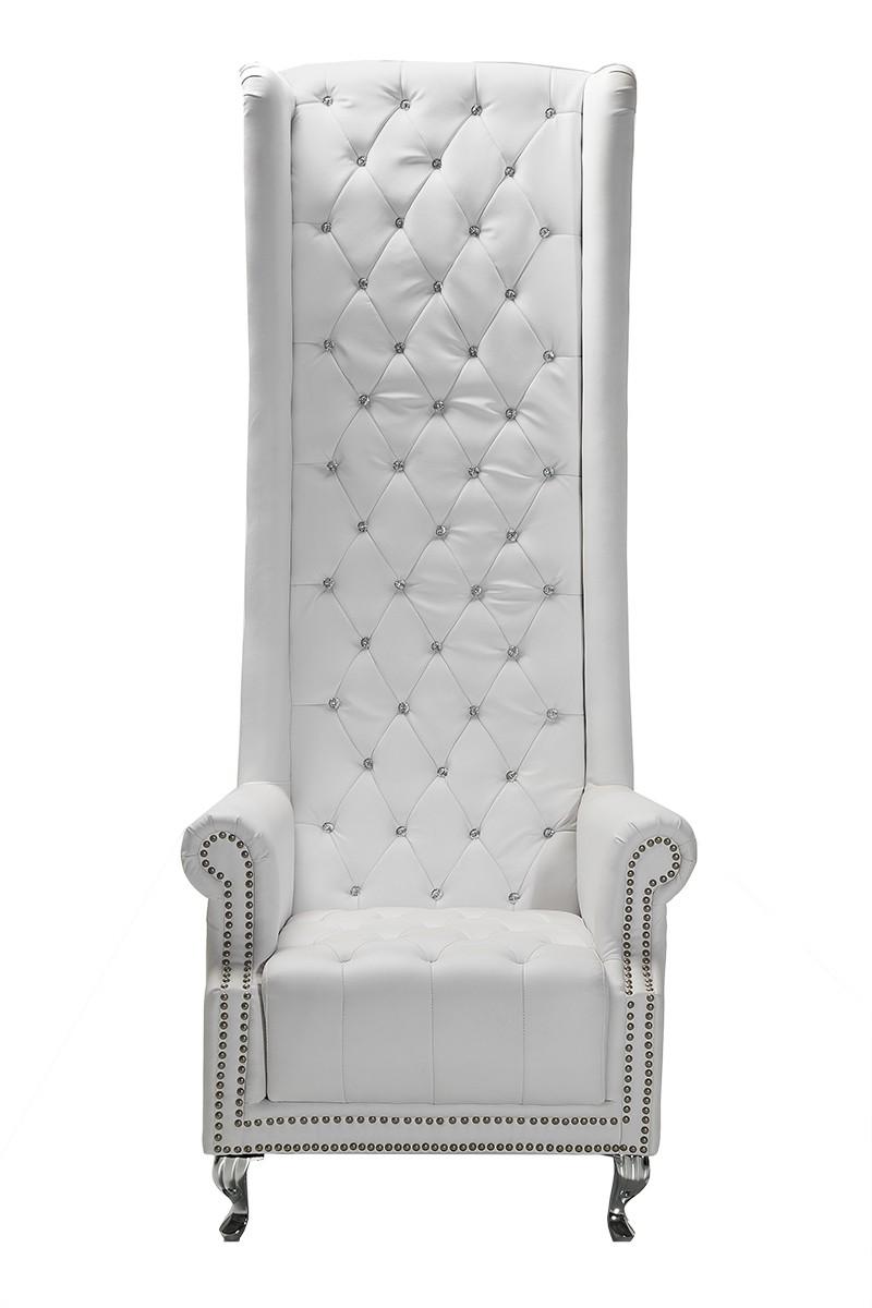sessel queen white 188x80 napalon leder by kare design ebay. Black Bedroom Furniture Sets. Home Design Ideas
