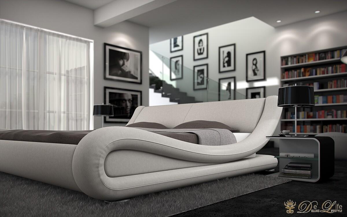 bett prima donna 180x200 weiss textil leder polsterbett ebay. Black Bedroom Furniture Sets. Home Design Ideas
