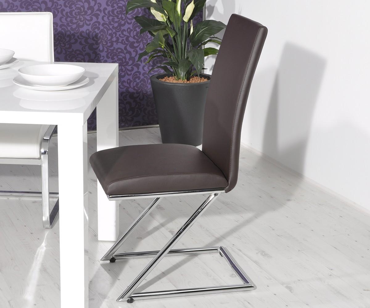 freischwinger wanda braun napalon leder chrom esszimmerstuhl ebay. Black Bedroom Furniture Sets. Home Design Ideas