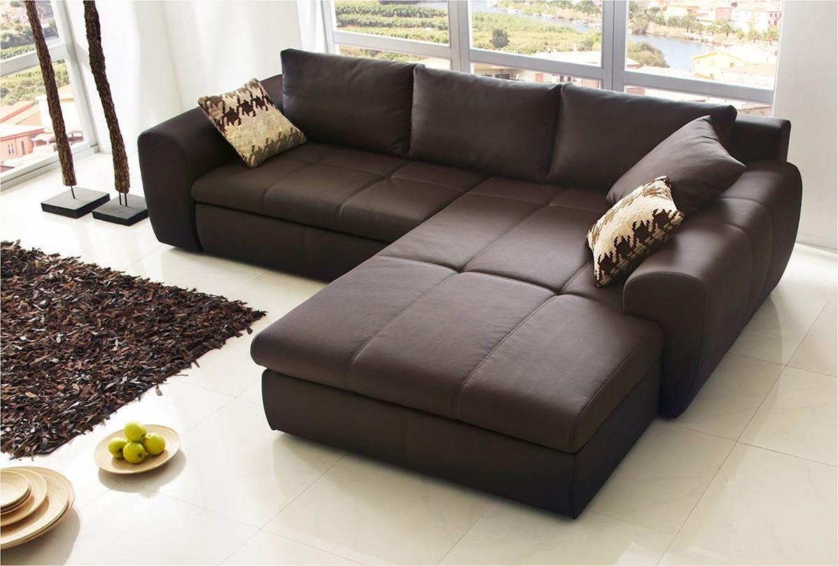 sofa luidor 290x195 cm braun mit schlaffunktion. Black Bedroom Furniture Sets. Home Design Ideas