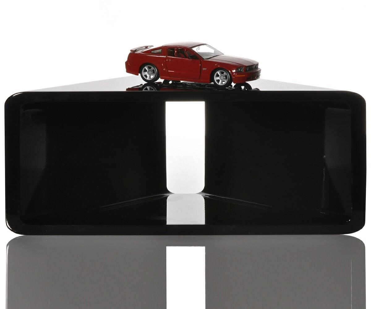 eckregal corner 50x20 cm schwarz hochglanz lounge cube design regal ebay. Black Bedroom Furniture Sets. Home Design Ideas