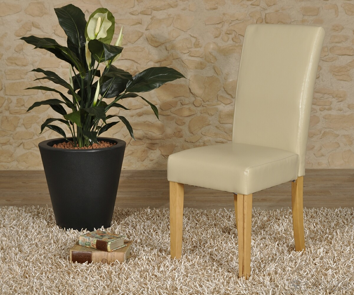 esszimmerstuhl padua creme napalon leder beine buchefarben ebay. Black Bedroom Furniture Sets. Home Design Ideas