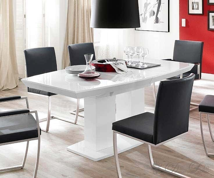 esstisch wei hochglanz. Black Bedroom Furniture Sets. Home Design Ideas