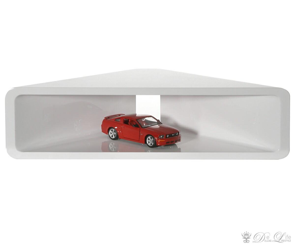 Eckregal Corner 60x15 Weiss Hochglanz Cube Design Regal