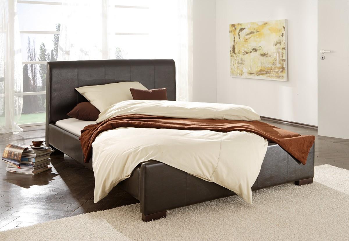 bett milano 180x200 cm braun polsterbett by wolf m bel ebay. Black Bedroom Furniture Sets. Home Design Ideas