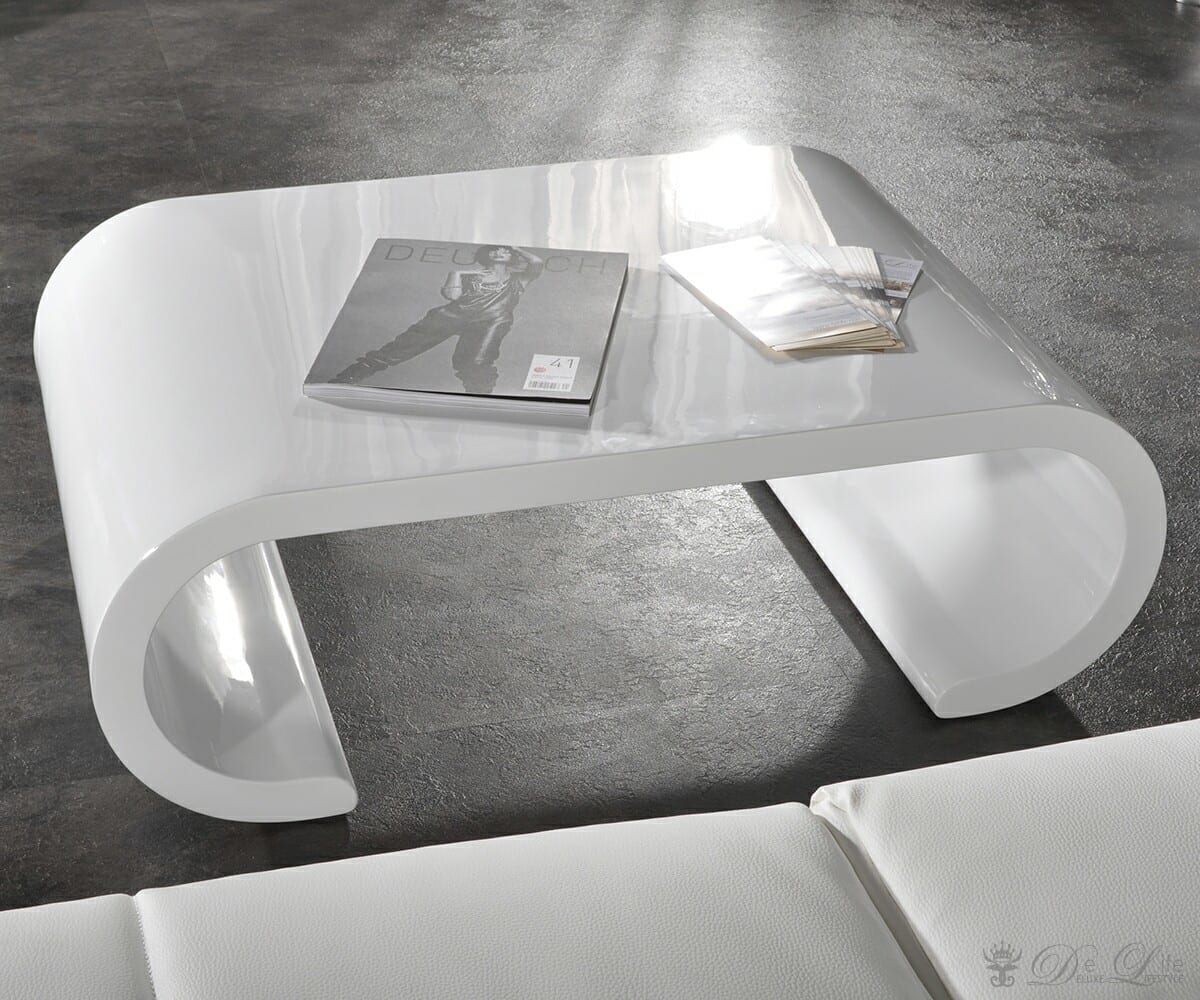 couchtisch opium oval 90 x 60 cm weiss hochglanz design beistelltisch ebay. Black Bedroom Furniture Sets. Home Design Ideas