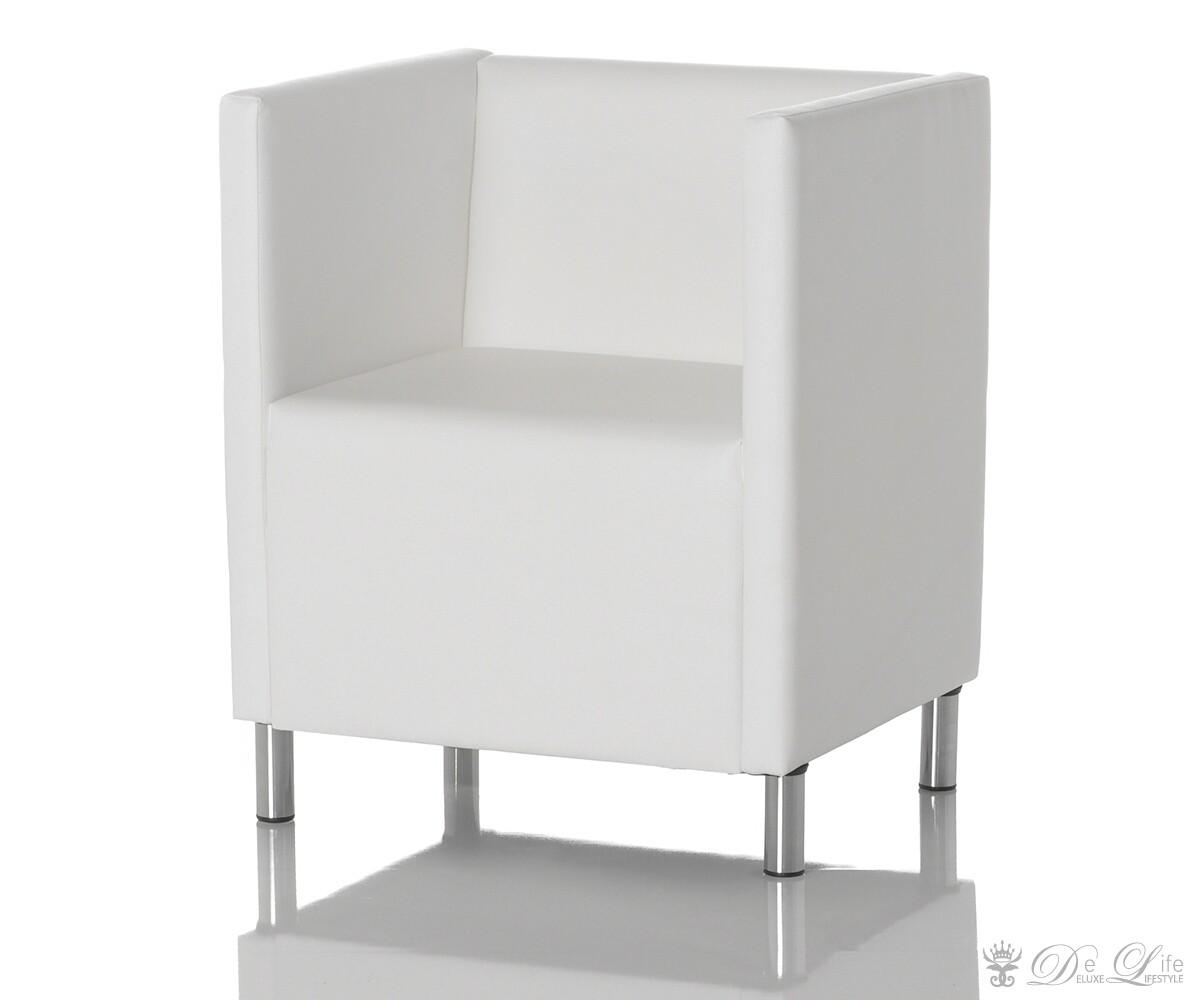 cocktailsessel rodin weiss napalon leder sessel ebay. Black Bedroom Furniture Sets. Home Design Ideas
